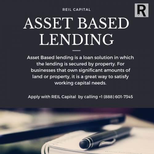 Asset-Based Lending is a loan solution in which the lending is secured by the property. For businesses that own significant amounts of land or property, it is a great way to satisfy working capital needs. Visit our website or call now more info.