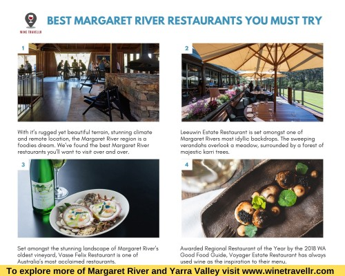 We've found the best Margaret River restaurants you'll want to visit over and over. The Margaret River region is a foodies dream with a stunning climate and remote location.